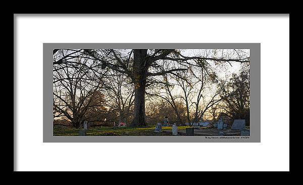 Landscape Framed Print featuring the photograph Gone by Leon Hollins III