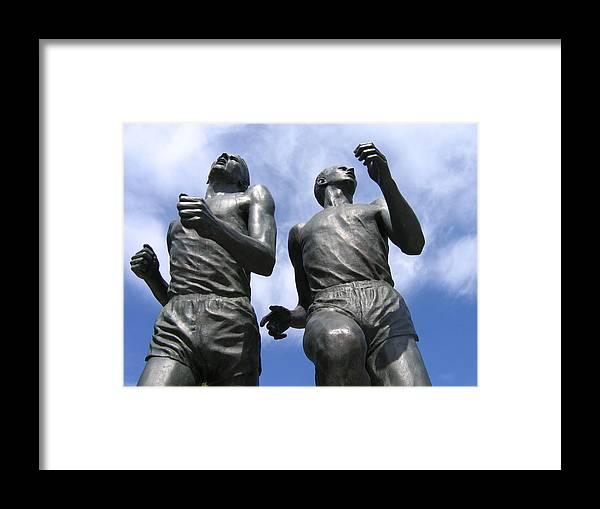 Statues Framed Print featuring the digital art Record Breaking Statues by Josie Boyce