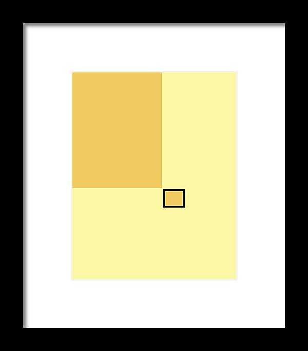 Abstract Framed Print featuring the painting Rectangles No 134 by Delio Paradise