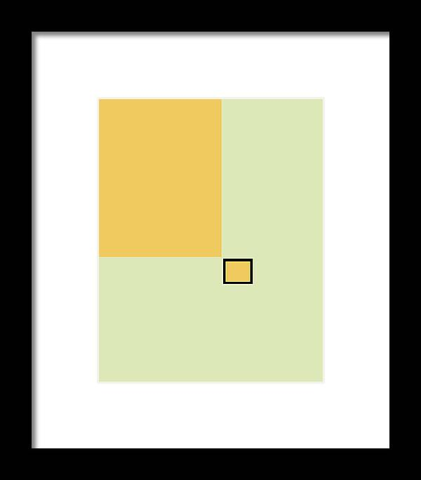 Abstract Framed Print featuring the painting Rectangles No 145 by Delio Paradise