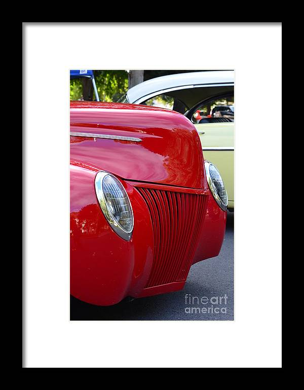 Framed Print featuring the photograph Red 40 Ford by Dean Ferreira