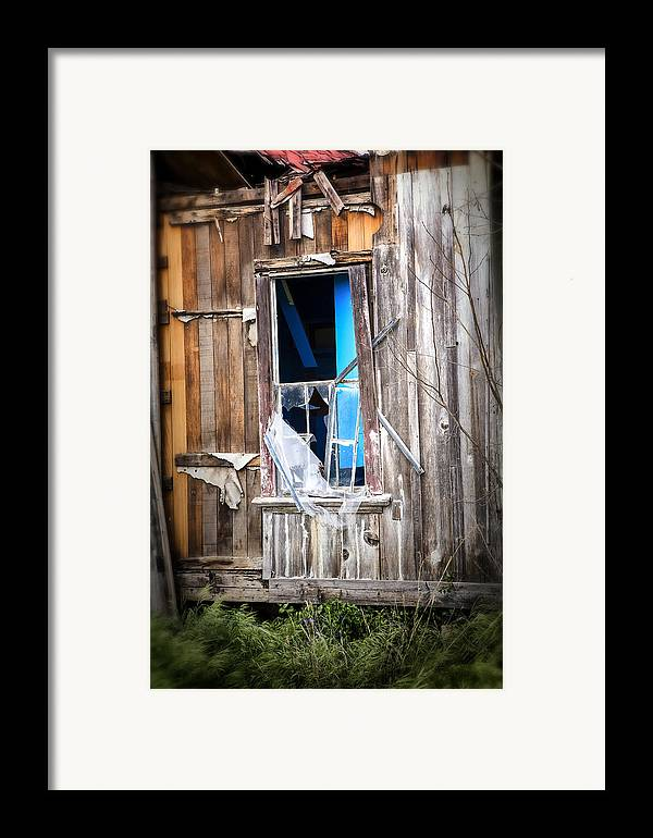 Abandoned Framed Print featuring the photograph Red And White And Blue by Caitlyn Grasso