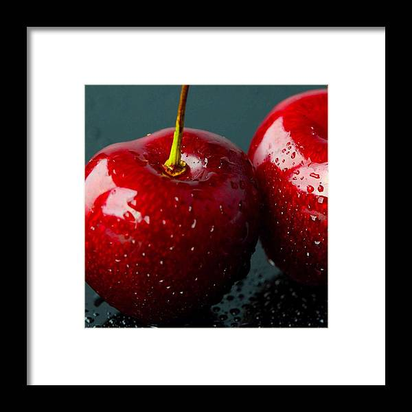 Fruit Framed Print featuring the photograph Red Apples by Aza Johnson
