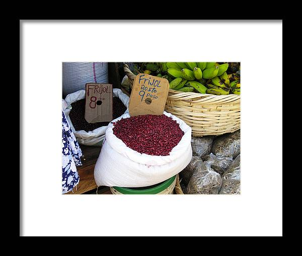 Bean Framed Print featuring the photograph Red Beans At Nicaragua Market by Kurt Van Wagner
