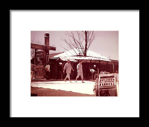 Akira Kurosawa Framed Print featuring the photograph Red Beard Tishiro Mifune by Dan Twyman