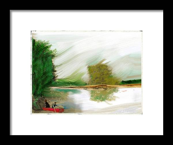 Red Boat Framed Print featuring the painting Red Boat by Craig Nelson