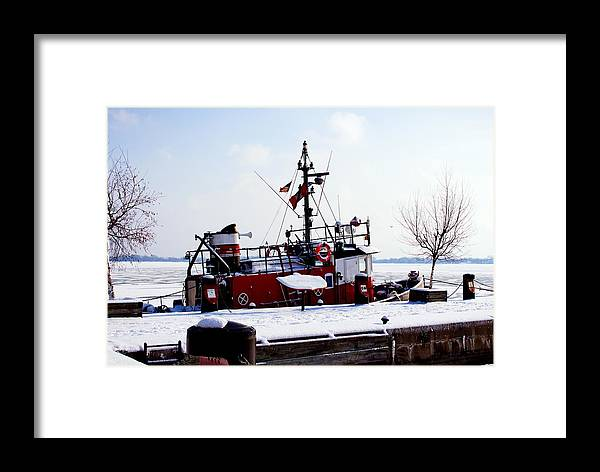 Nature Framed Print featuring the photograph Red Boat by Nicky Jameson