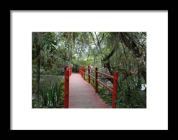 Framed Print featuring the photograph Red Bridge by Brian OSullivan
