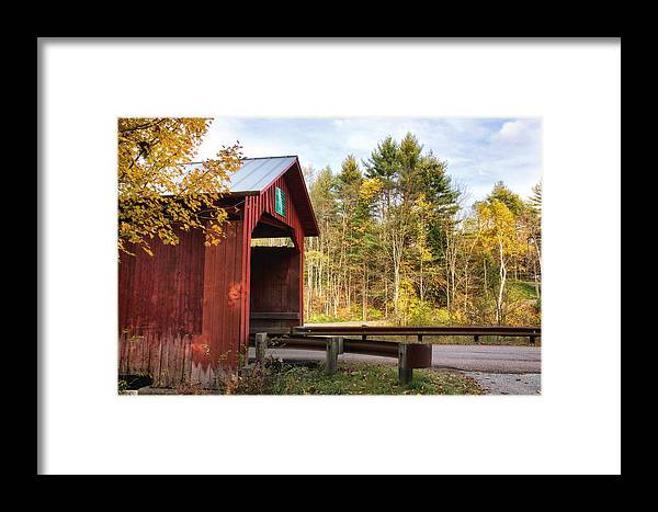 Red Covered Bridges Framed Print featuring the photograph Red Covered Bridge  by Wade Crutchfield
