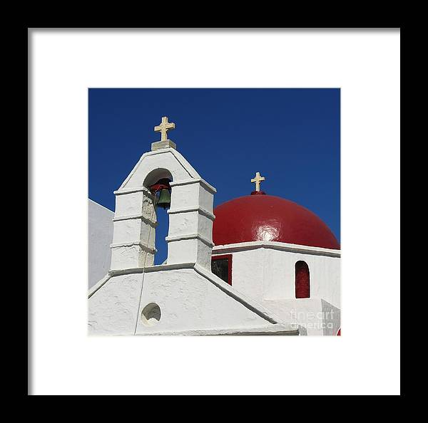 Red Dome Church Framed Print featuring the photograph Red Dome Church 2 by Mel Steinhauer
