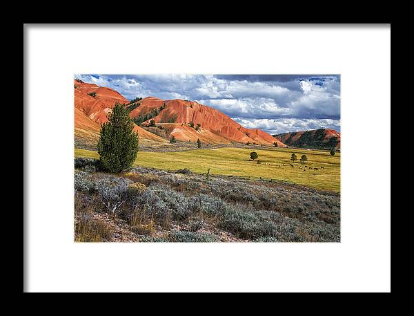 Grand Framed Print featuring the photograph Red Hills by Alex Mironyuk