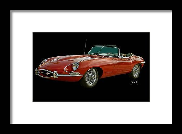 Jaguar Framed Print featuring the photograph Red Jaguar by Larry Linton
