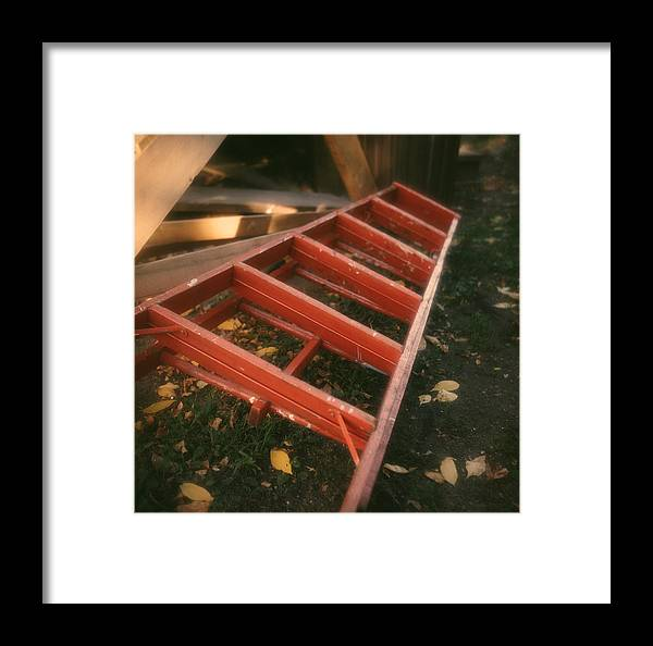 Ladder Framed Print featuring the photograph Red Ladder by Lonnie Paulson