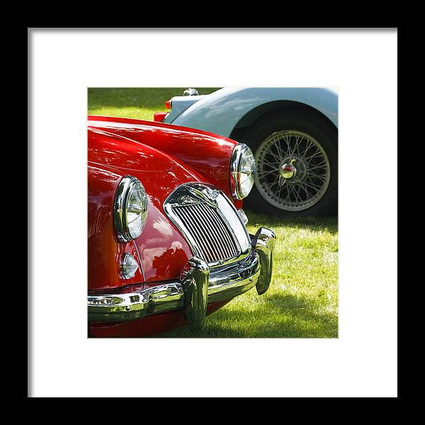 Red Mg Framed Print featuring the photograph Red M G by Wes and Dotty Weber