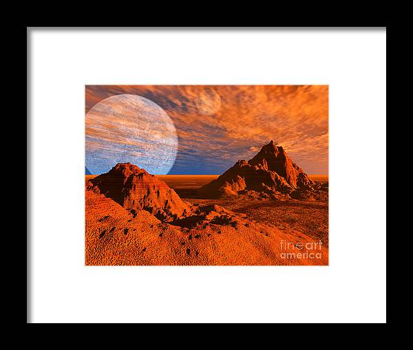 Red Planet. Desert Framed Print featuring the photograph Red Planet by Alan Russo
