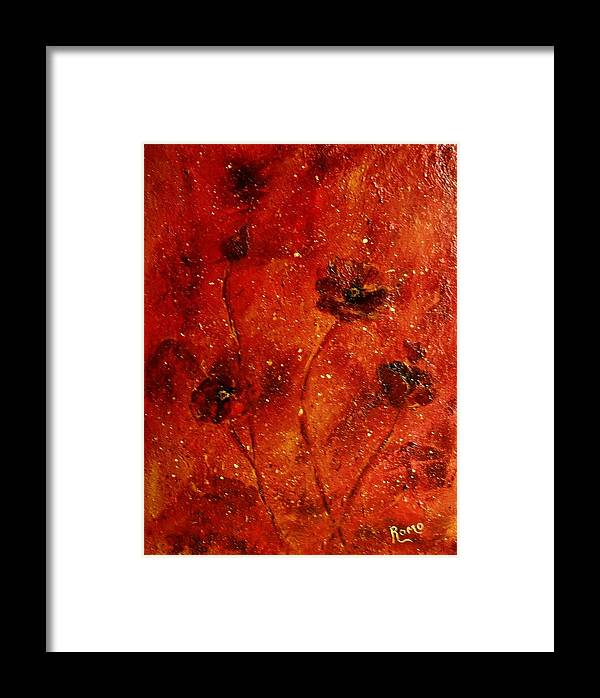 Red Poppies Framed Print featuring the painting Red Poppies by Robin Monroe