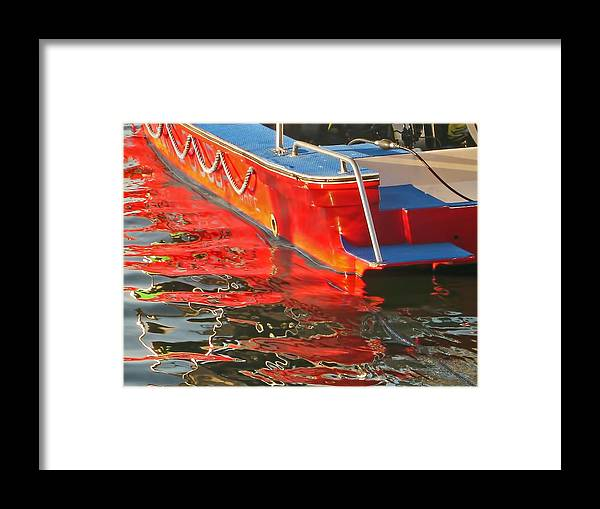 Red Framed Print featuring the photograph Red Rippling by Pete Marchetto