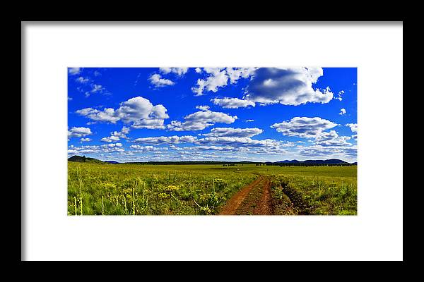 Red Road Framed Print featuring the photograph Red Road by Patrick Moore