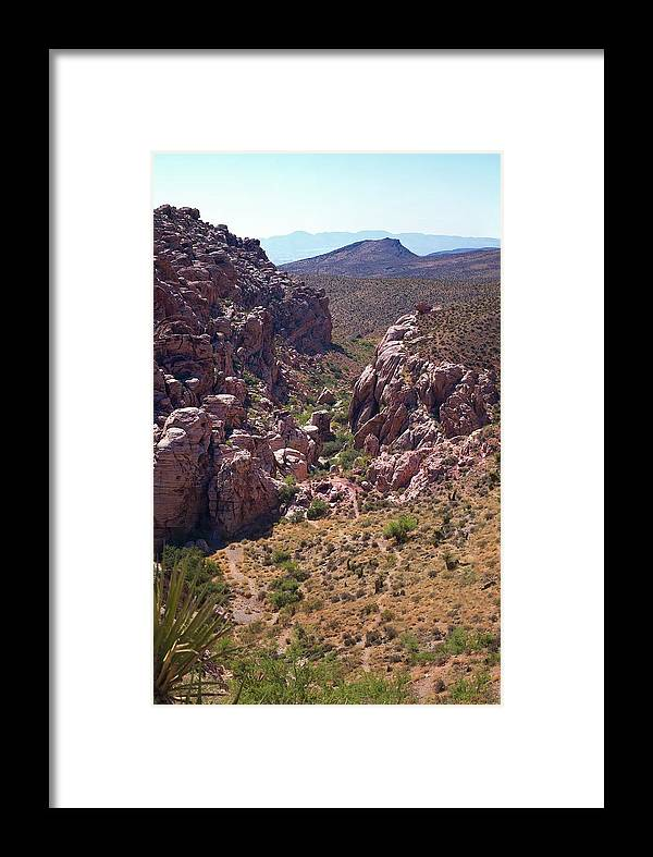 Landscape Framed Print featuring the photograph Red Rock Canyon Iv by Michele Stoehr
