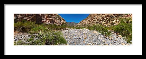 Landscape Framed Print featuring the photograph Red Rock Canyon V by Michele Stoehr