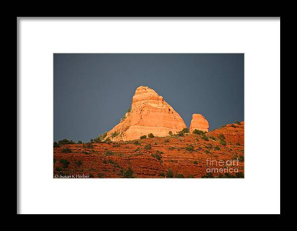 Sedona Framed Print featuring the photograph Red Rock Rising by Susan Herber