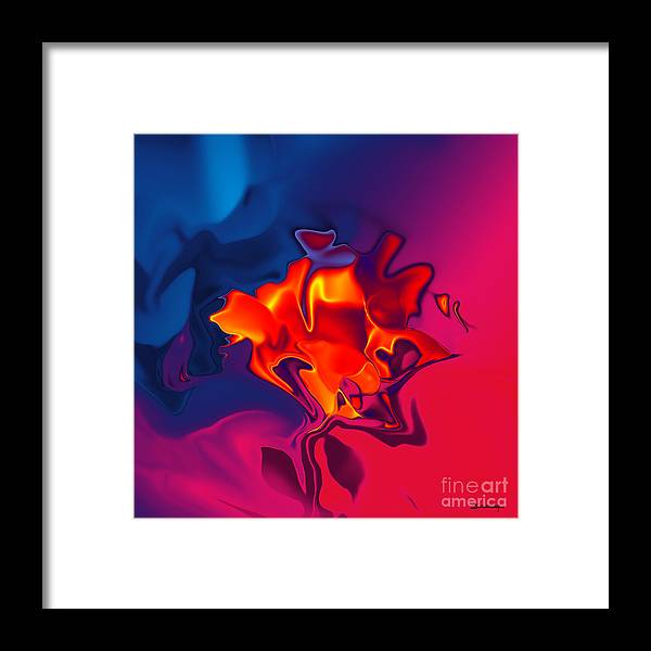 Rose Framed Print featuring the painting Red Rose Ancient Sort by Christian Simonian