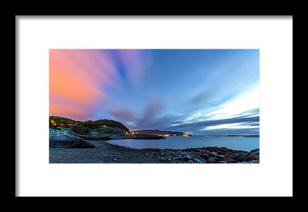 Blue Sky Framed Print featuring the photograph Red Running Clouds by Mohsen Khosravi