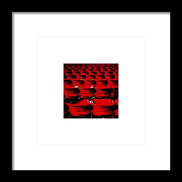 Red Framed Print featuring the photograph Red Sea_09.09.12 by Paul Hasara