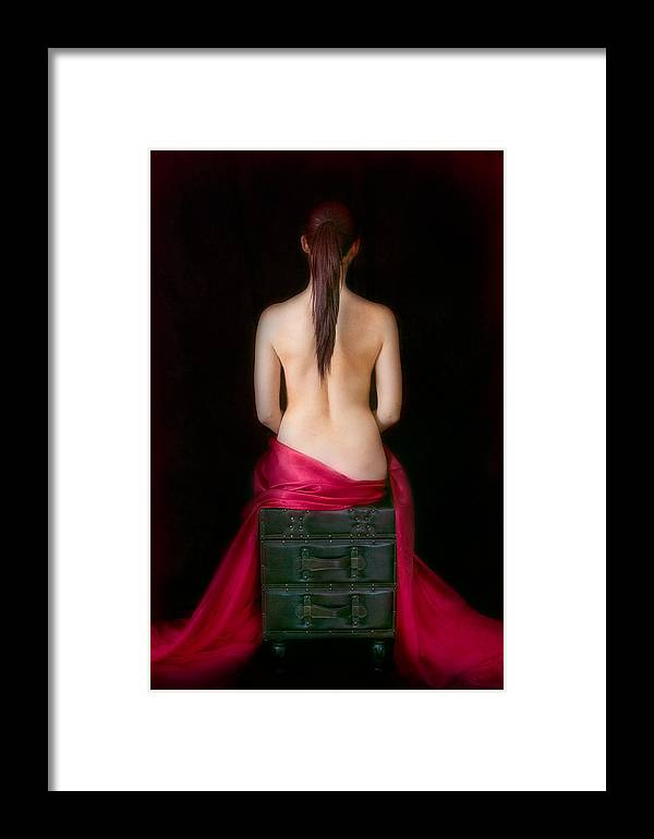 Red Framed Print featuring the photograph Red Sensuality by Elvira Pinkhas