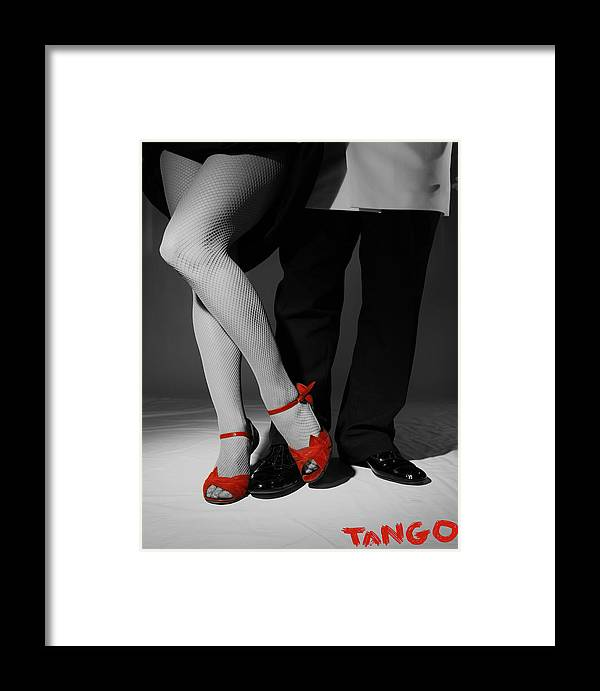 Red Framed Print featuring the mixed media Red Shoes by Doug Walker
