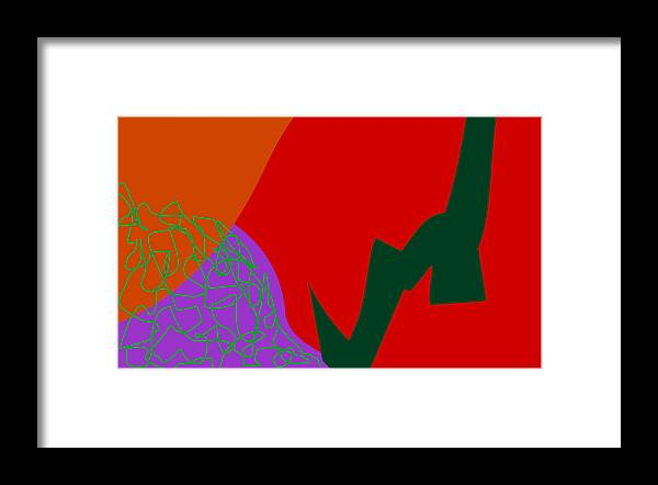 Abstract Framed Print featuring the mixed media Red Spice by  Eyauuk