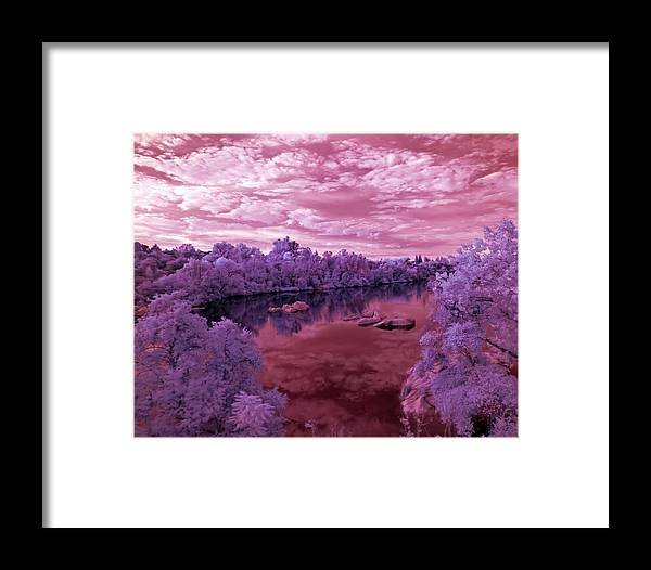 Water Framed Print featuring the photograph Red Sunrise by Stephen Batson