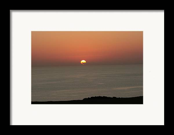Red Sunset Over Sea Framed Print featuring the photograph Red Sunset Over Sea by Gordon Auld