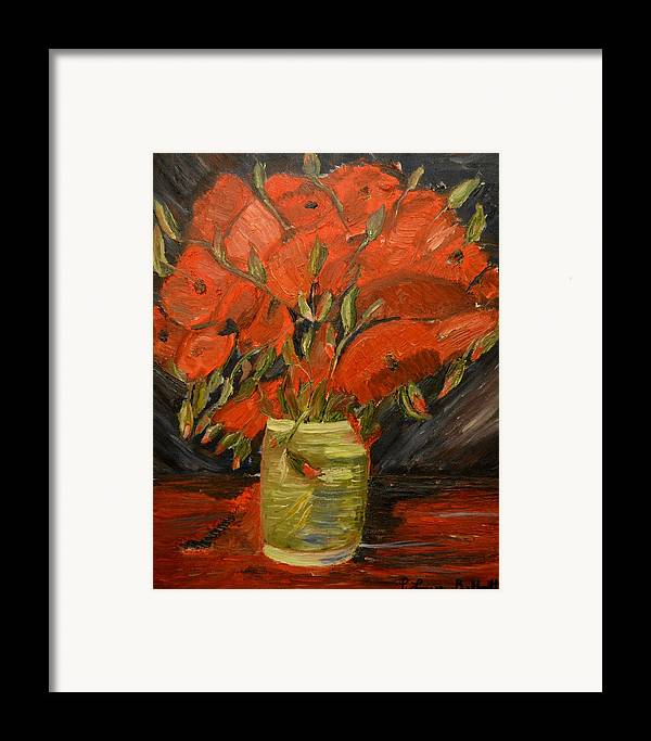 Flowers Framed Print featuring the painting Red Velvet by Louise Burkhardt