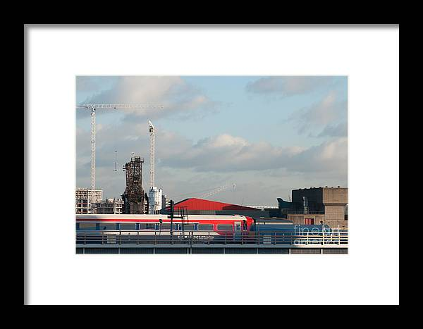 Rail Framed Print featuring the photograph Red White And Blue by Carol Weitz