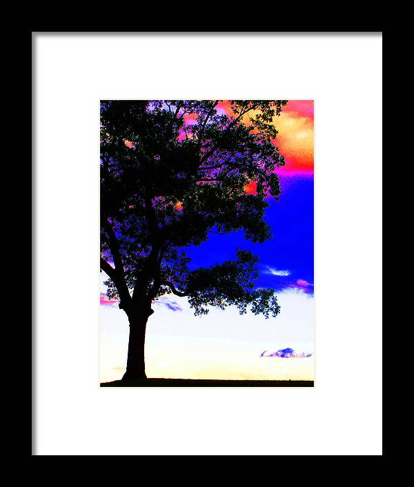 Ron Tackett Photography Landscape Framed Print featuring the photograph Red White And Blue by Ron Tackett