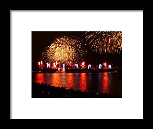 Landscape Framed Print featuring the photograph Red White Boom by Kevin Jackson