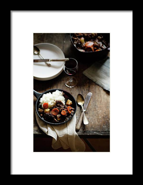 Spoon Framed Print featuring the photograph Red Wine Braised Beef by 200