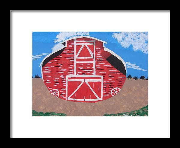Barn Framed Print featuring the painting Redwood Farm Barn by Brady Harness