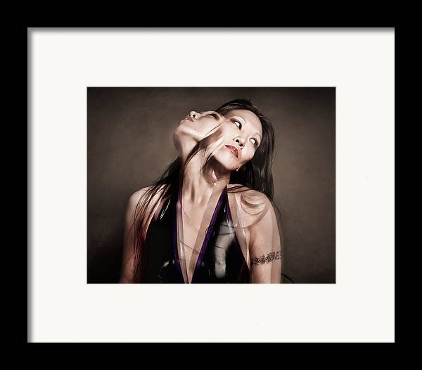 Artistic Portraiture Framed Print featuring the photograph Ree Ja Soul by Gary Heller