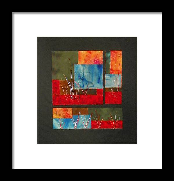 Nature Framed Print featuring the mixed media Reeds by Jenny Williams