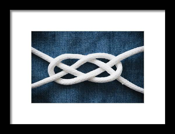 Security Framed Print featuring the photograph Reef Knot by Jamie Grill