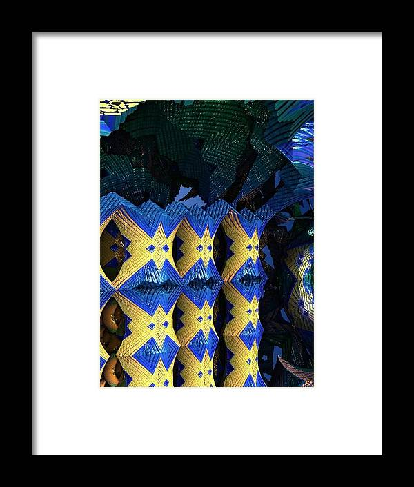Abstract Framed Print featuring the digital art Reflect by Paul Deforrest