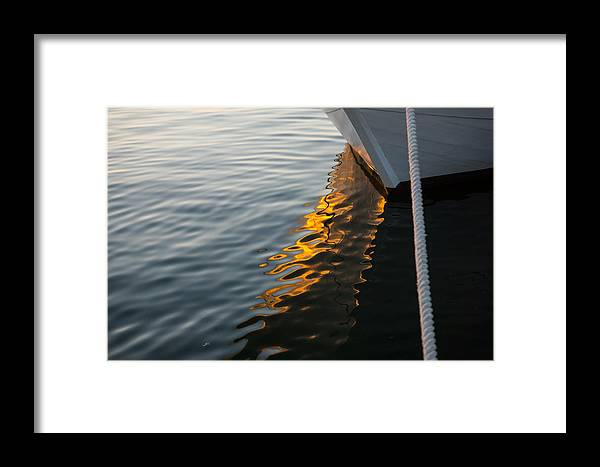Georgiam Framed Print featuring the photograph Reflecting On Boats And Sunsets by Georgia Mizuleva