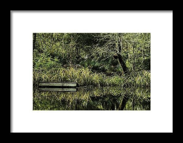 Nature Framed Print featuring the photograph Reflecting Pond by Good I Art Photography