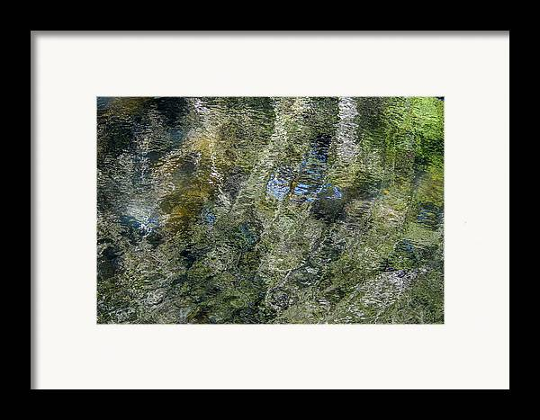 Abstract Framed Print featuring the photograph Reflection Art by Roxy Hurtubise