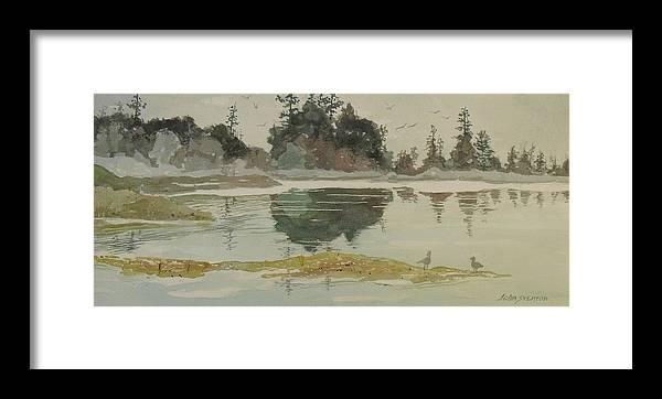 John Svenson Framed Print featuring the painting Reflection by John Svenson