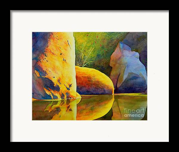 Watercolor Framed Print featuring the painting Reflection by Robert Hooper