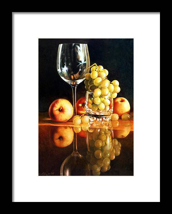 Giuseppe Mariotti Framed Print featuring the painting Reflections by Giuseppe Mariotti