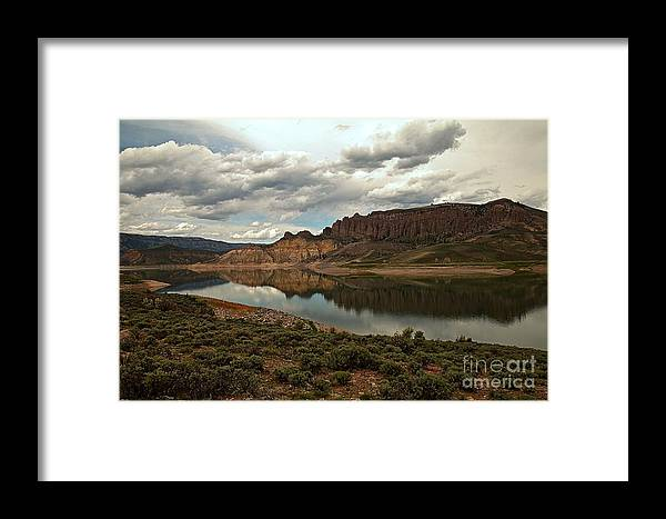 Curecanti Framed Print featuring the photograph Reflections In Blue Mesa by Adam Jewell